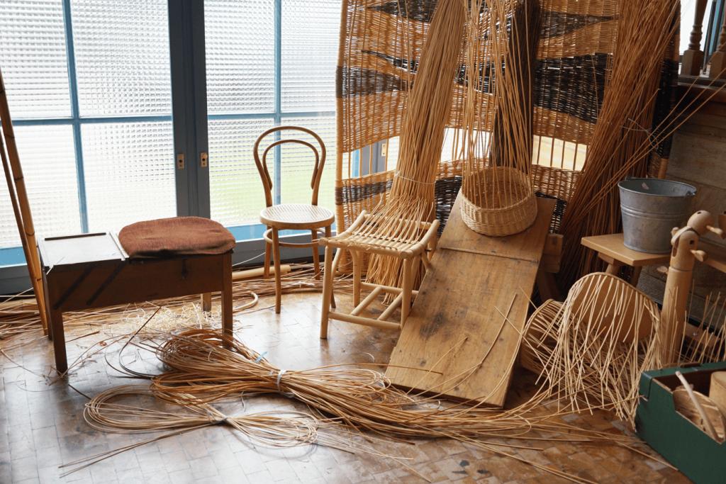 Flechtwerke im Museum Michelau