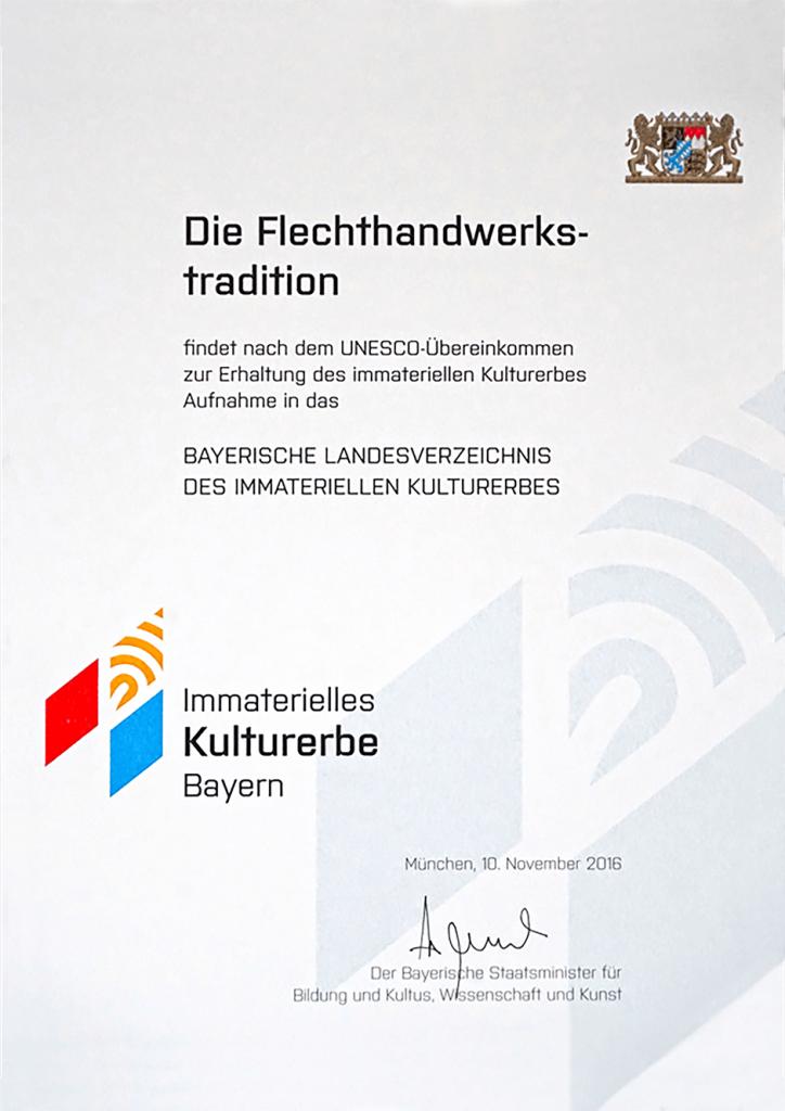 Urkunde Bayern